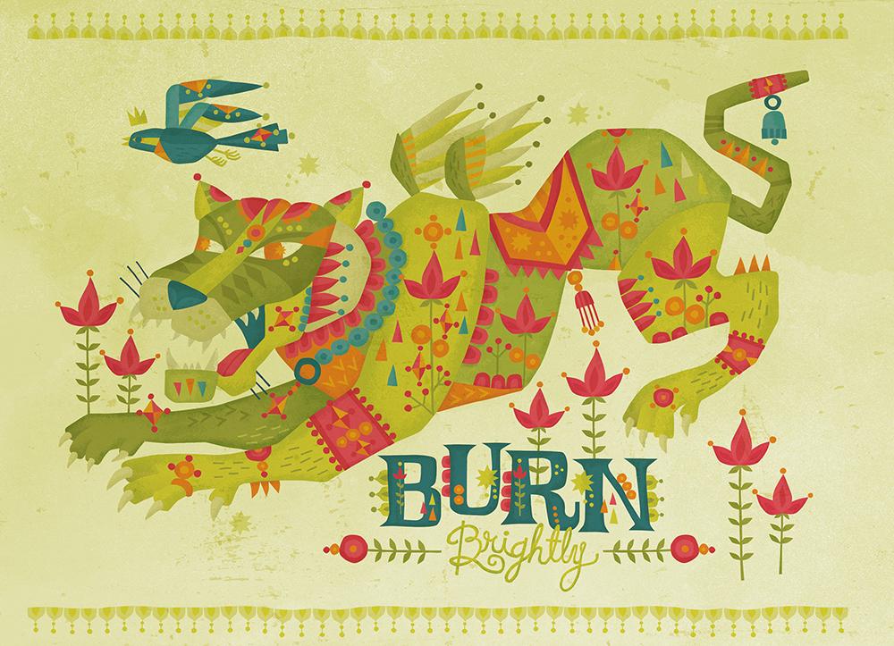 Burn Brightly Self Promotion Illustration
