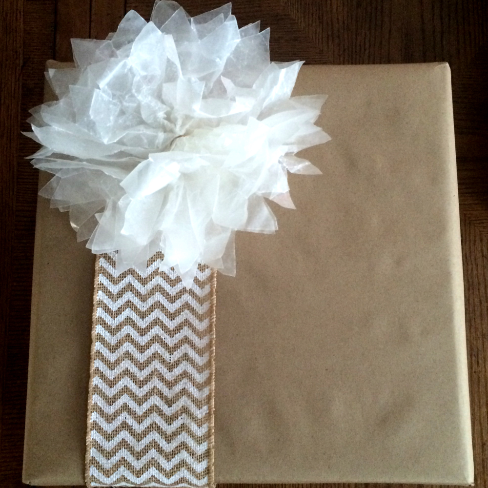 Gift Wrapping-The Wax Paper Flower Finished (Sugar and Roses)