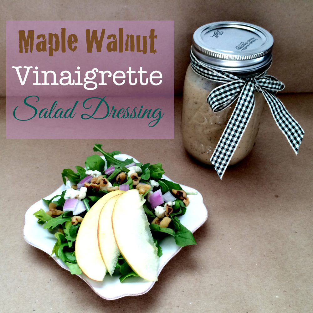 Maple Vinaigrette Salade Dressing (Sugar and Roses) - Title