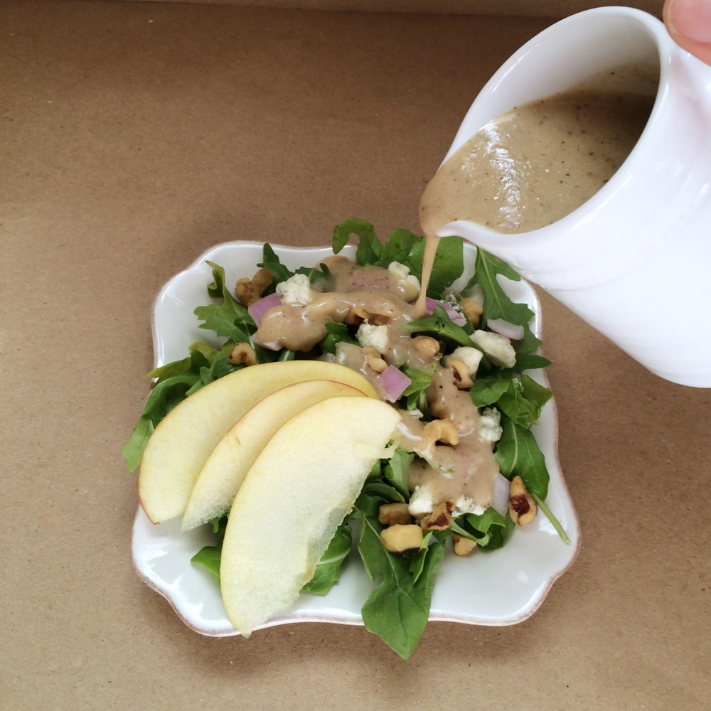 Maple Walnut Vinaigrette Salad Dressing (Sugar & Roses) - Dressing