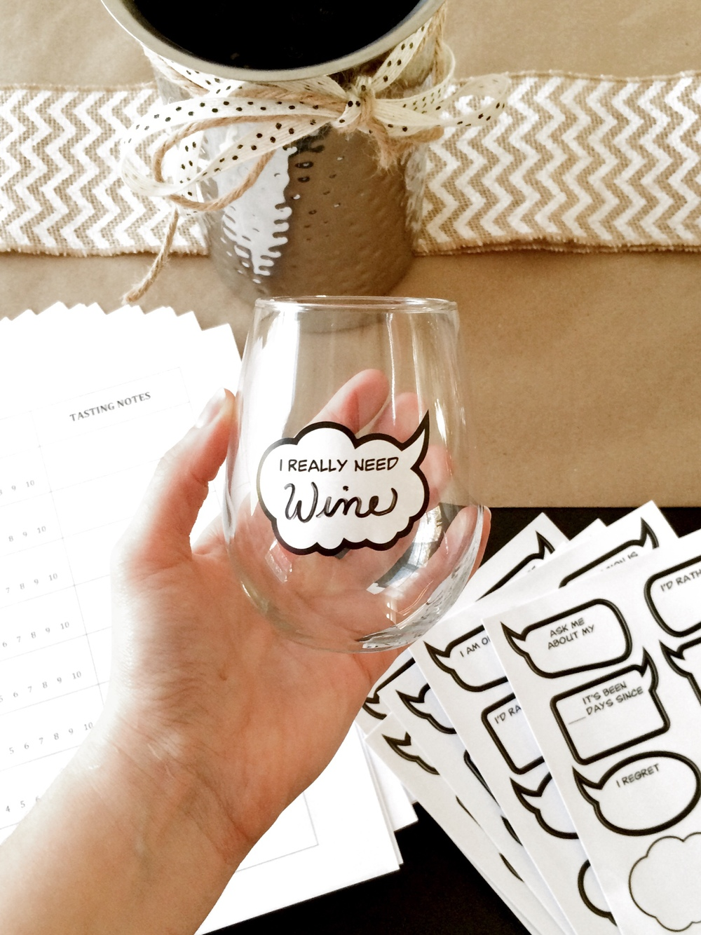 Host a Wine Tasting Party (Sugar & Roses) - Tasting Glasses