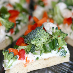 Host a Wine Tasting Party (Sugar & Roses) - Vegetable Pizza Appetizer