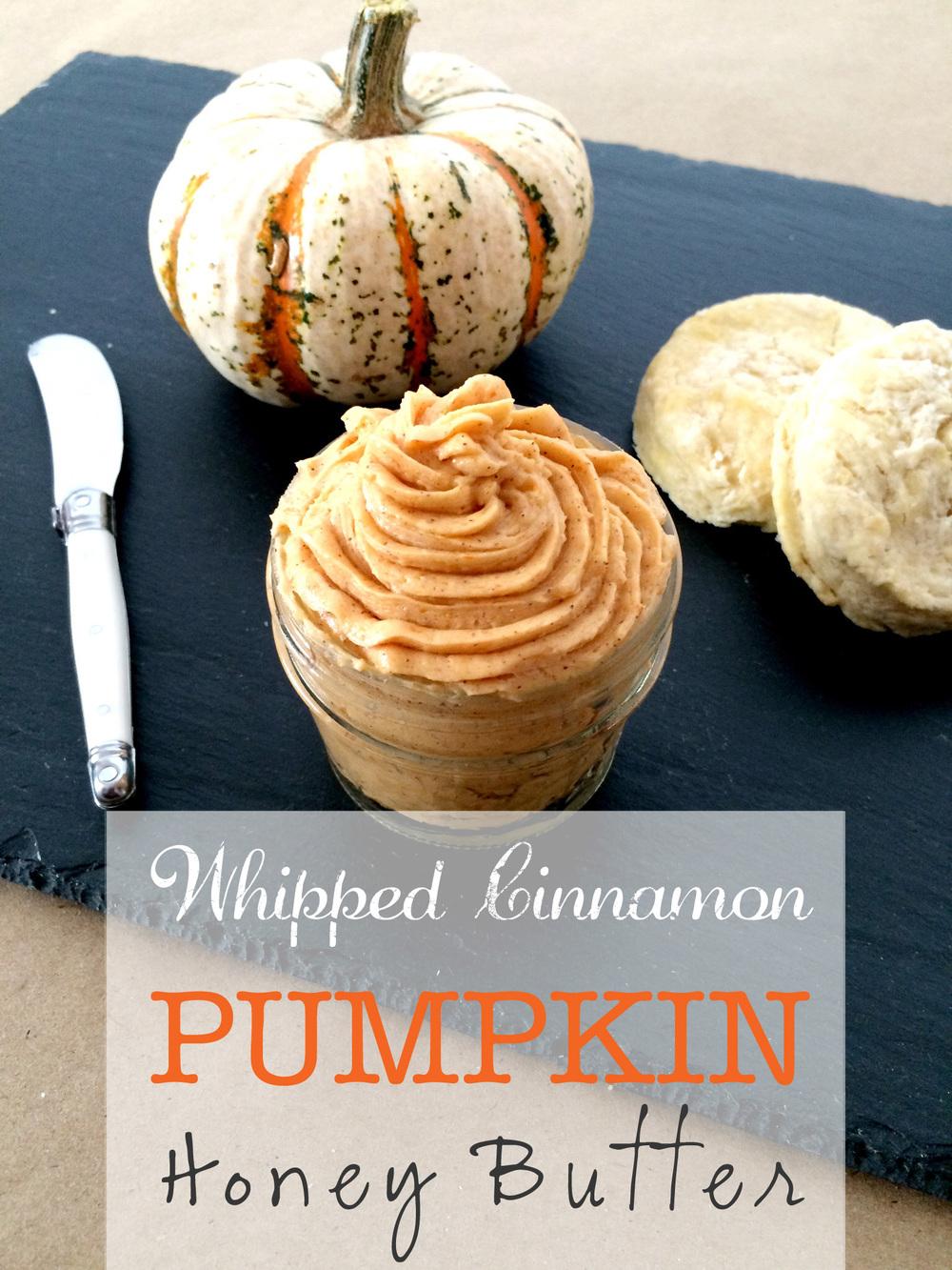 Whipped Cinnamon Pumpkin Honey Butter (Sugar & Roses)