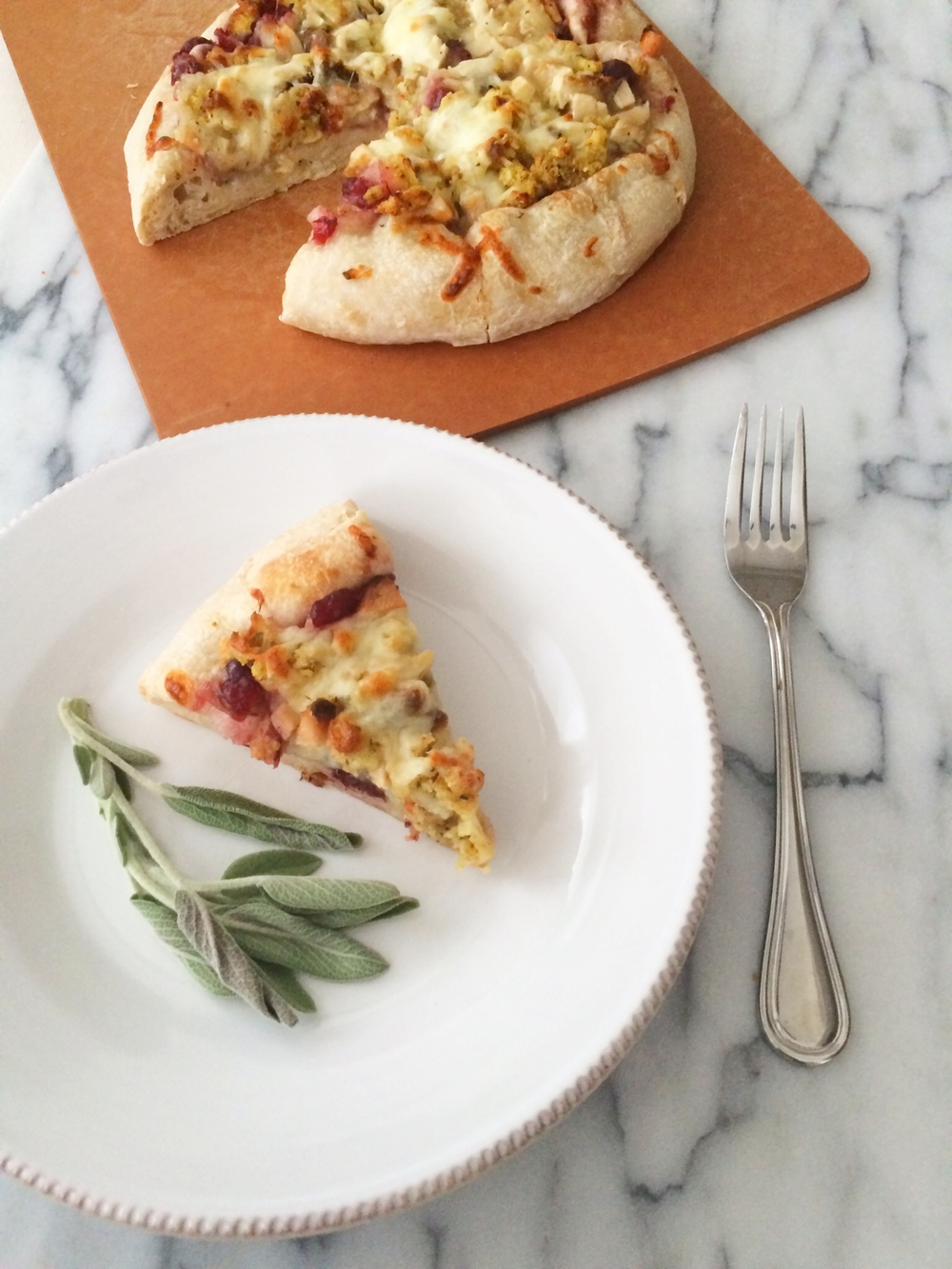 Thanksgiving Leftovers Pizza (Sugar & Roses)