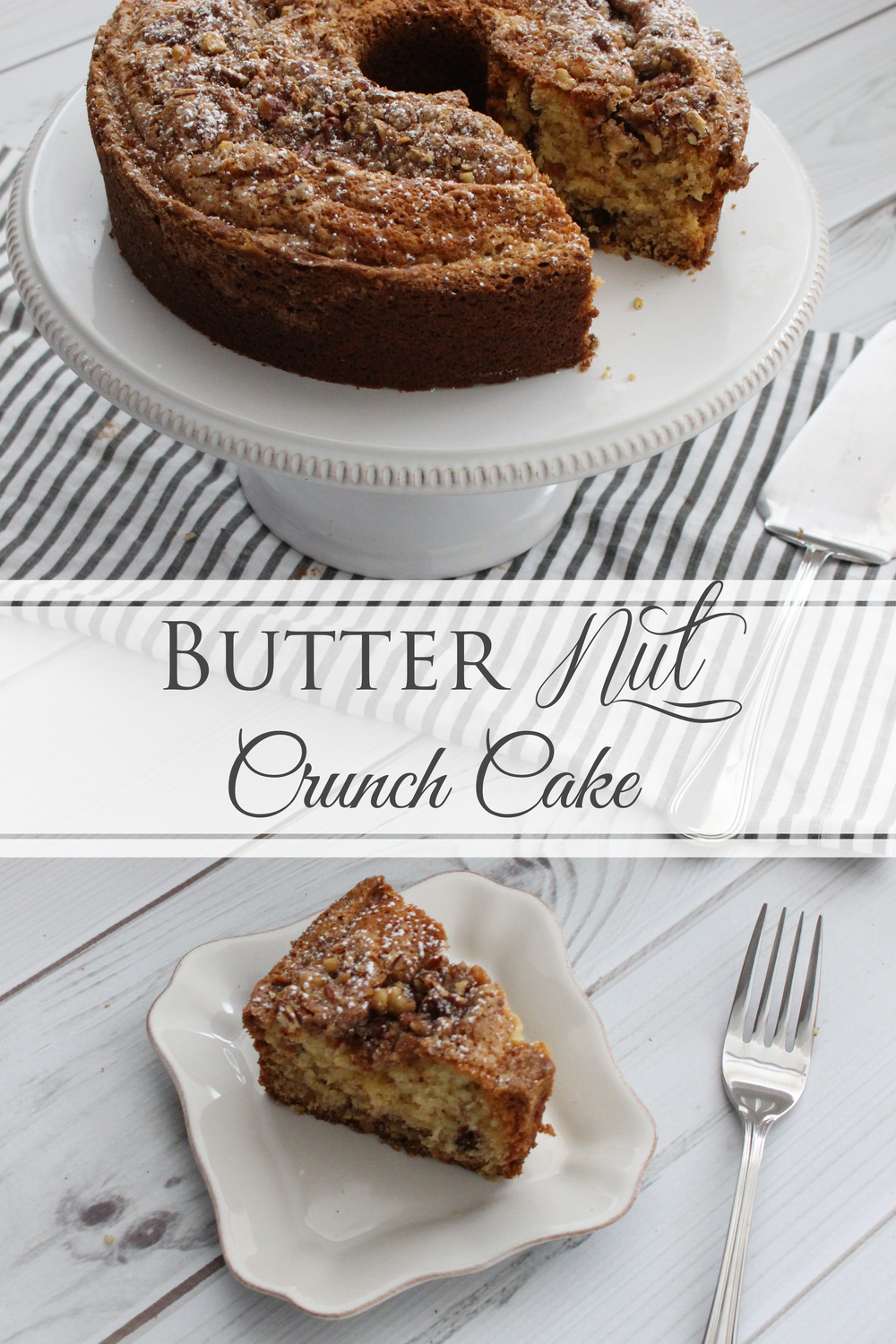 Butter Nut Crunch Cake (Sugar & Roses)