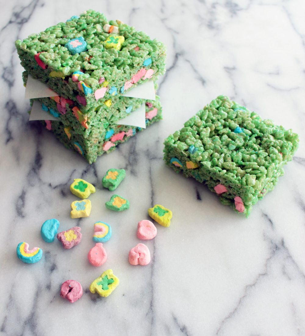 Lucky Charms Rice Krispies Treats (Sugar & Roses)