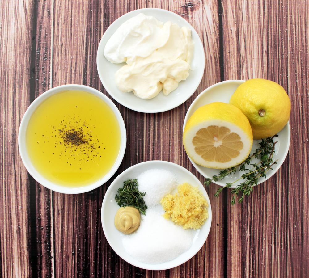 Creamy & Tangy Lemon-Thyme Pasta Salad (Sugar & Roses)