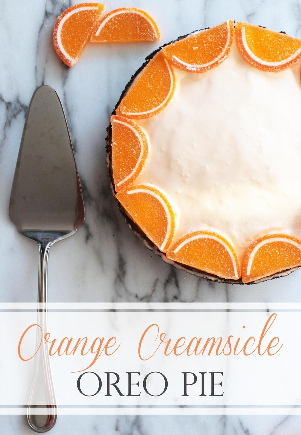 Orange Creamsicle Oreo Pie (Sugar & Roses)