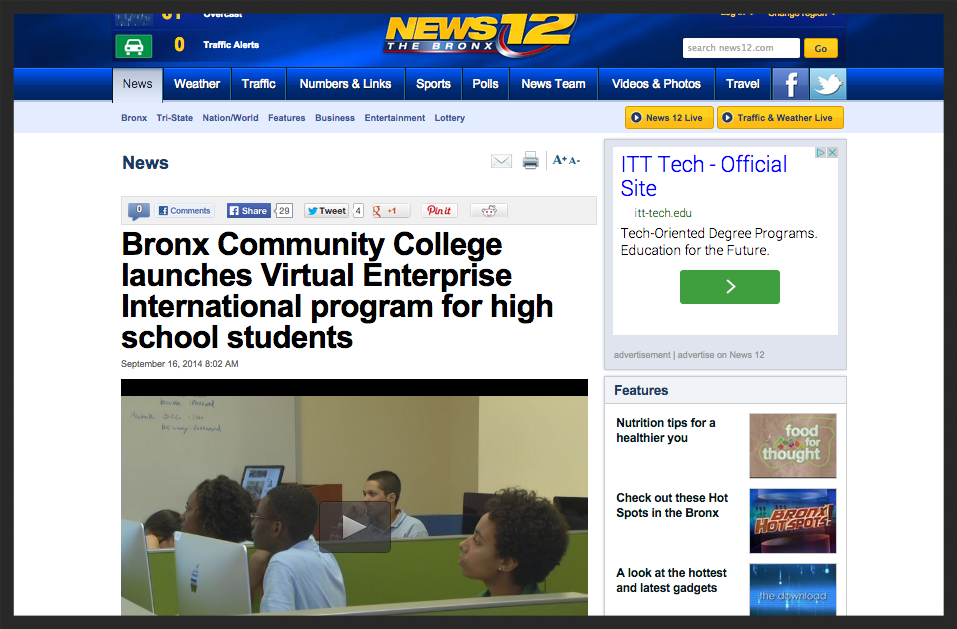 Several MBA students appear in this news story including Brittany Lett and Christopher Nieves.
