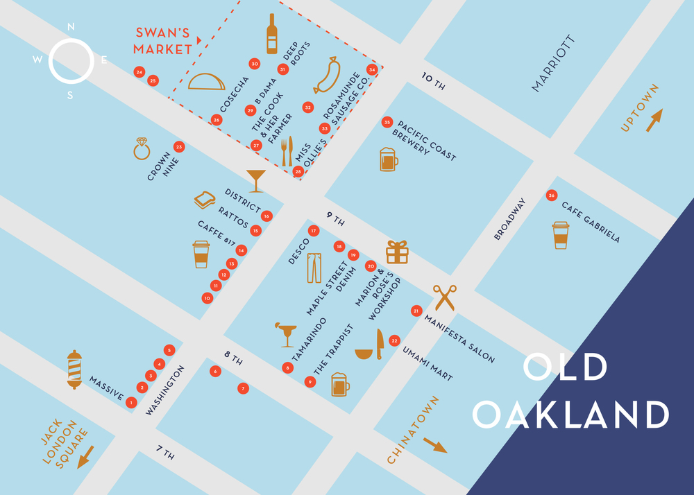 Map of Old Oakland