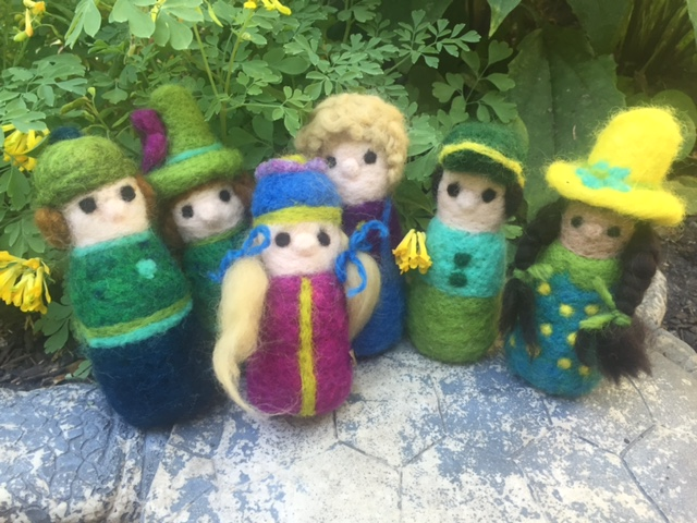 Felted gnome children.