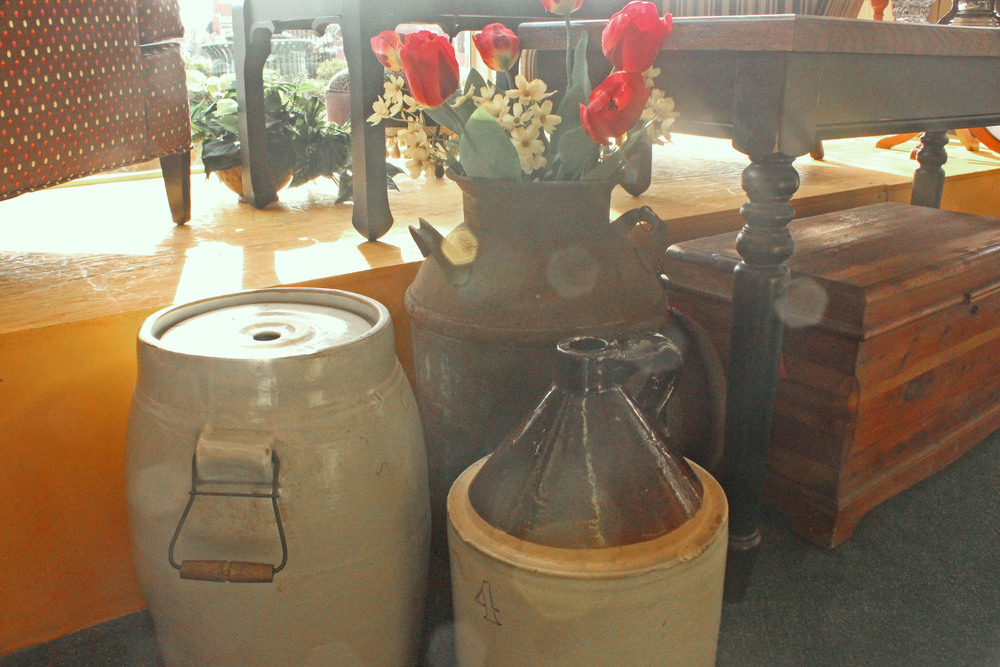 Antique Churn, Milk Can, and Jug.jpg