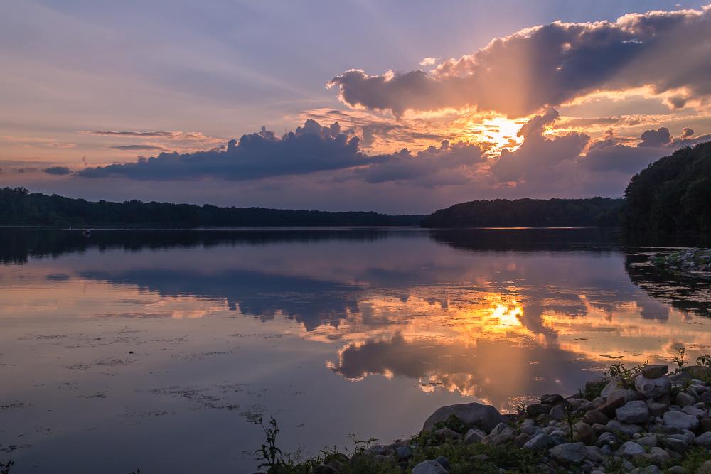 Kiser Lake Sunset, Saint Paris, Ohio
