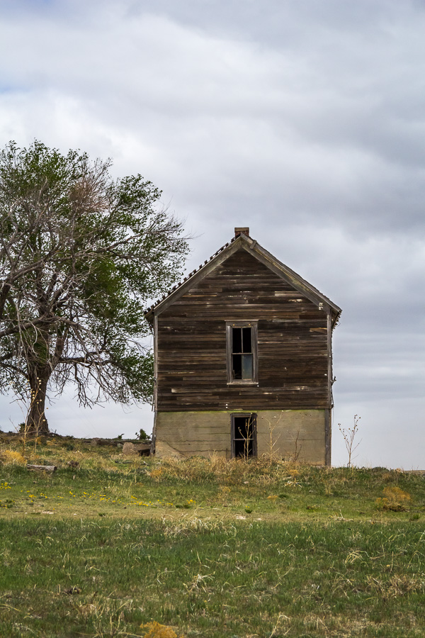 Abandoned Kansas schoolhouse
