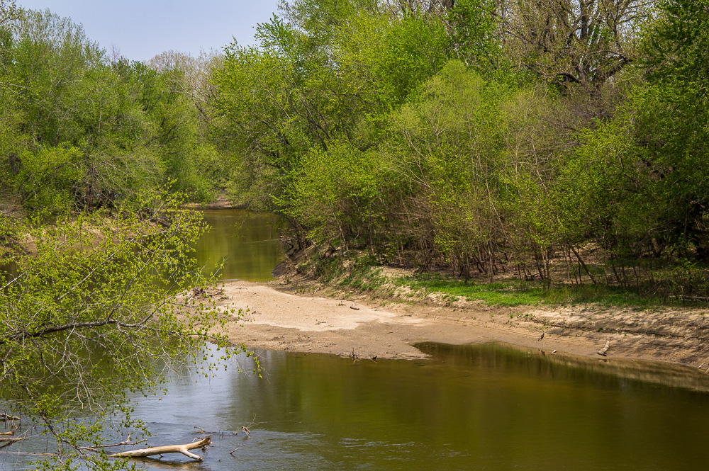 A beautiful spring day on the Embarrass River, Illinois.