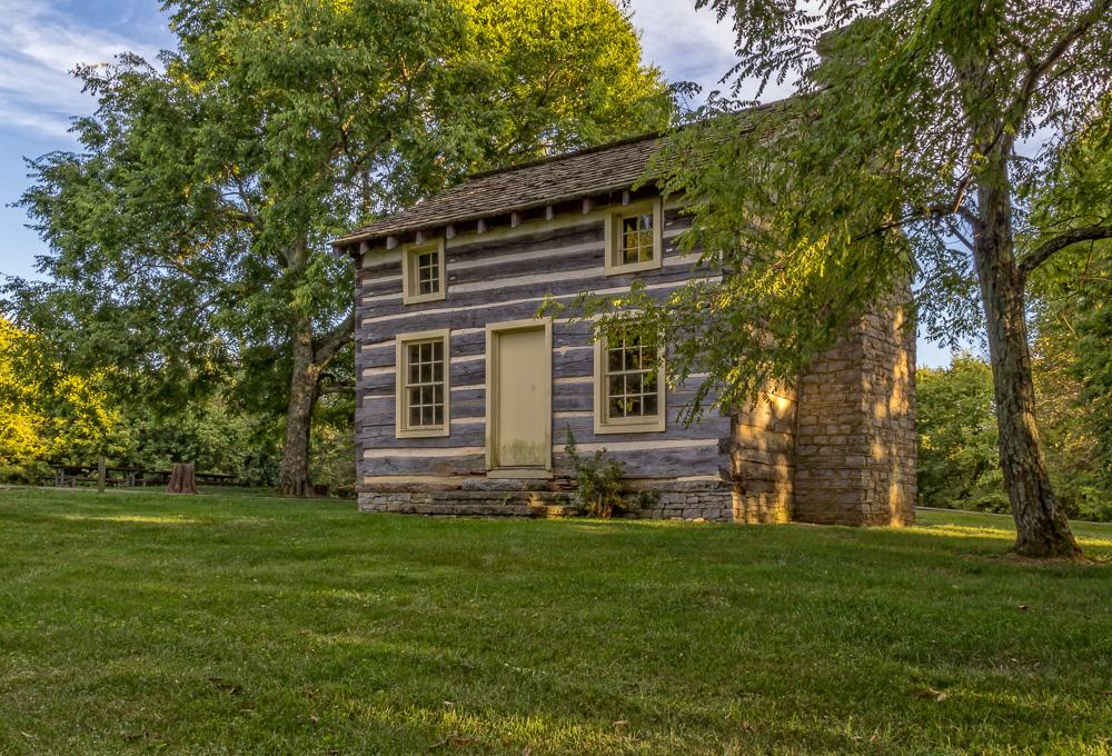 An 1840's Kentucky log cabin.Taylorsville Lake, Taylorsville, Kentucky