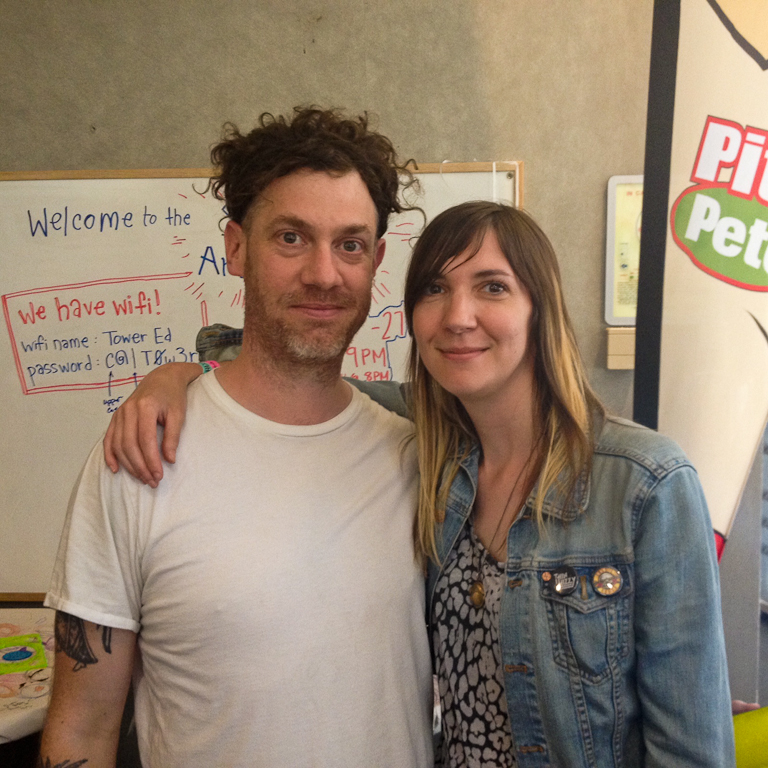 Carla with good ol' Jeremy Gara, drummer with Michael Feuerstack.