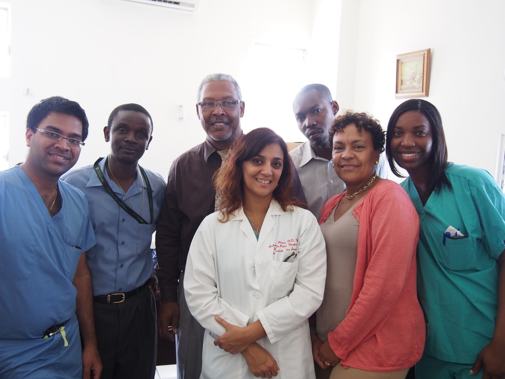 IMR Team with the chair of Department of OBGYN at HUEH