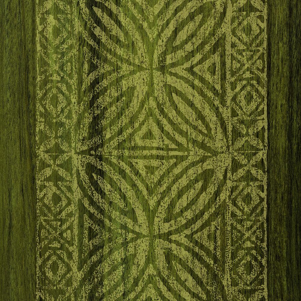 Samoan Tapa Olive Faux Koa Wood Surfboard