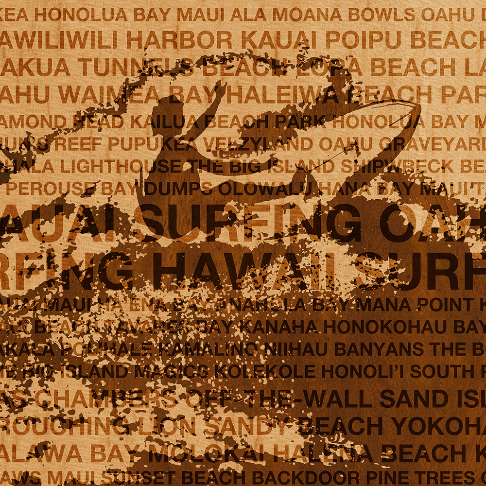 Surfing Hawaii, The Cutback, Hawaiian Surfing Design