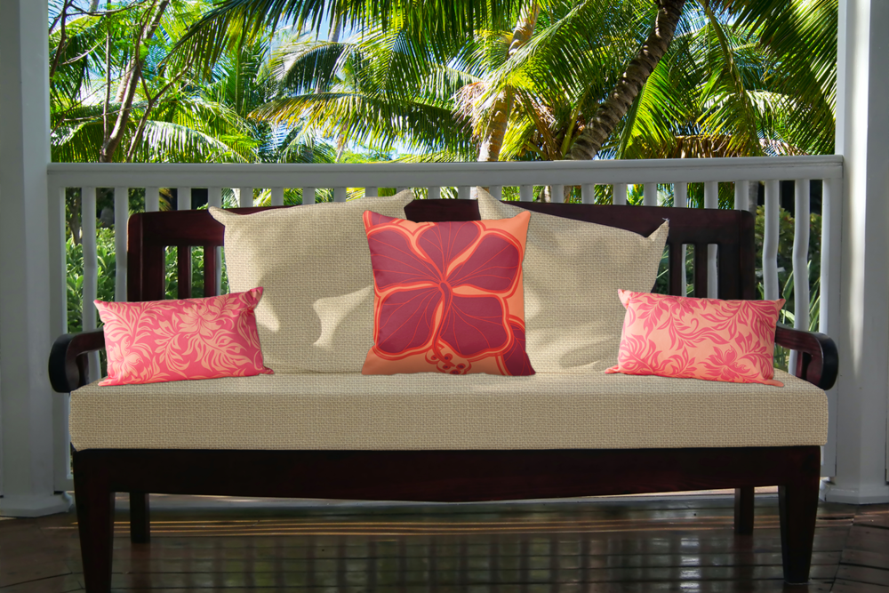 Hawaiian Decorative Pillows and Decor