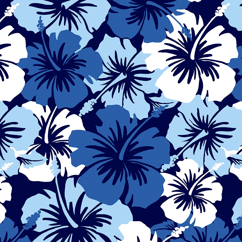 Tropical beach theme floral pattern.