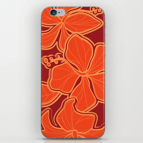 Shown above: Our Kailua Hibiscus iPhone skin. Click the image above for details.