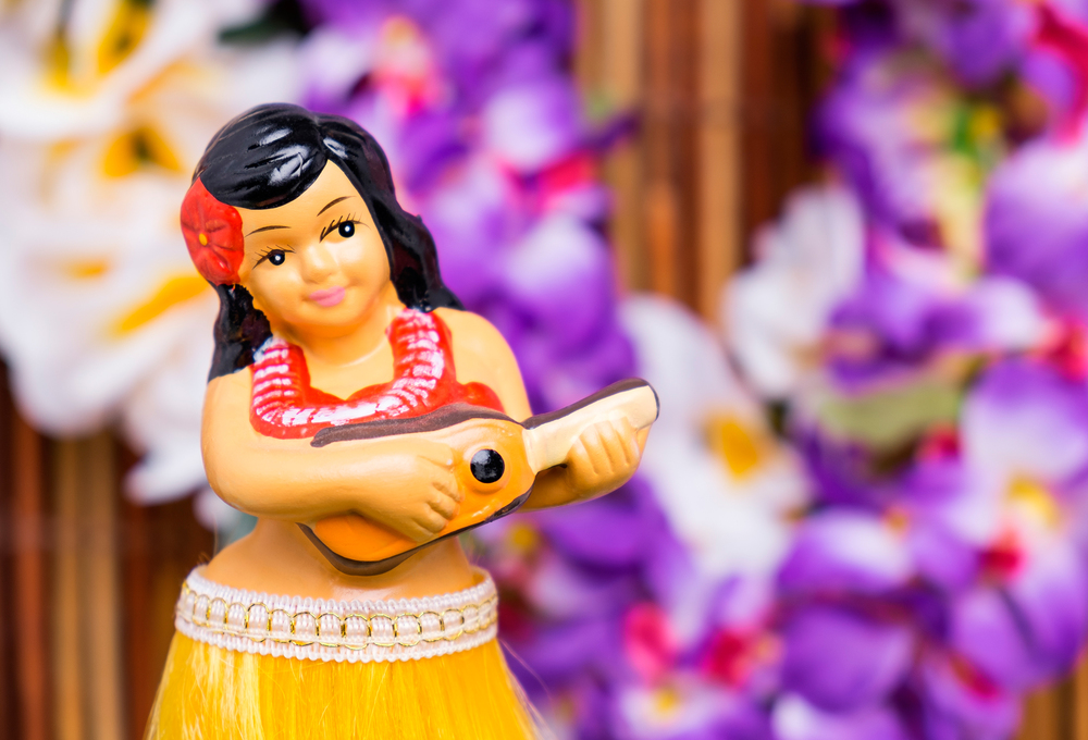 Hula Girl Dashboard Doll