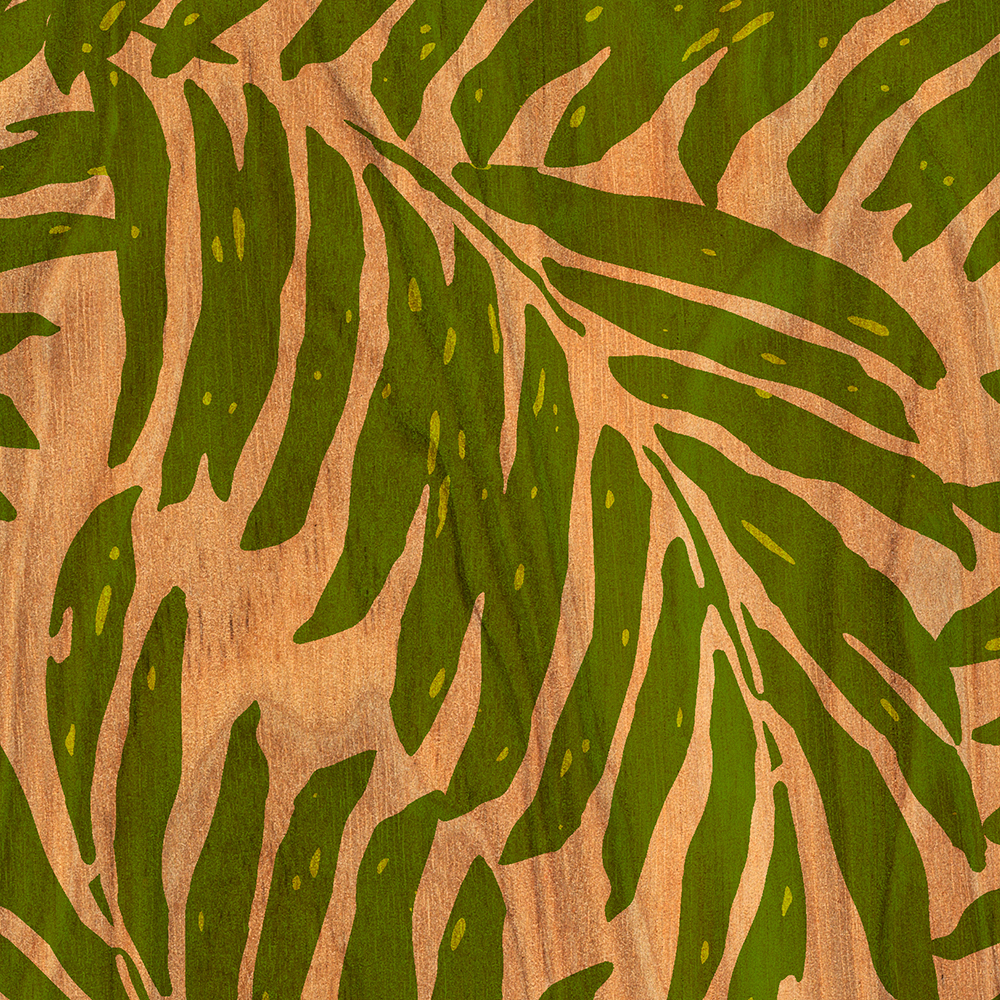 Copy of Copy of Copy of Copy of Kahanu Hawaiian Palm Faux Wood Phone Case in Green