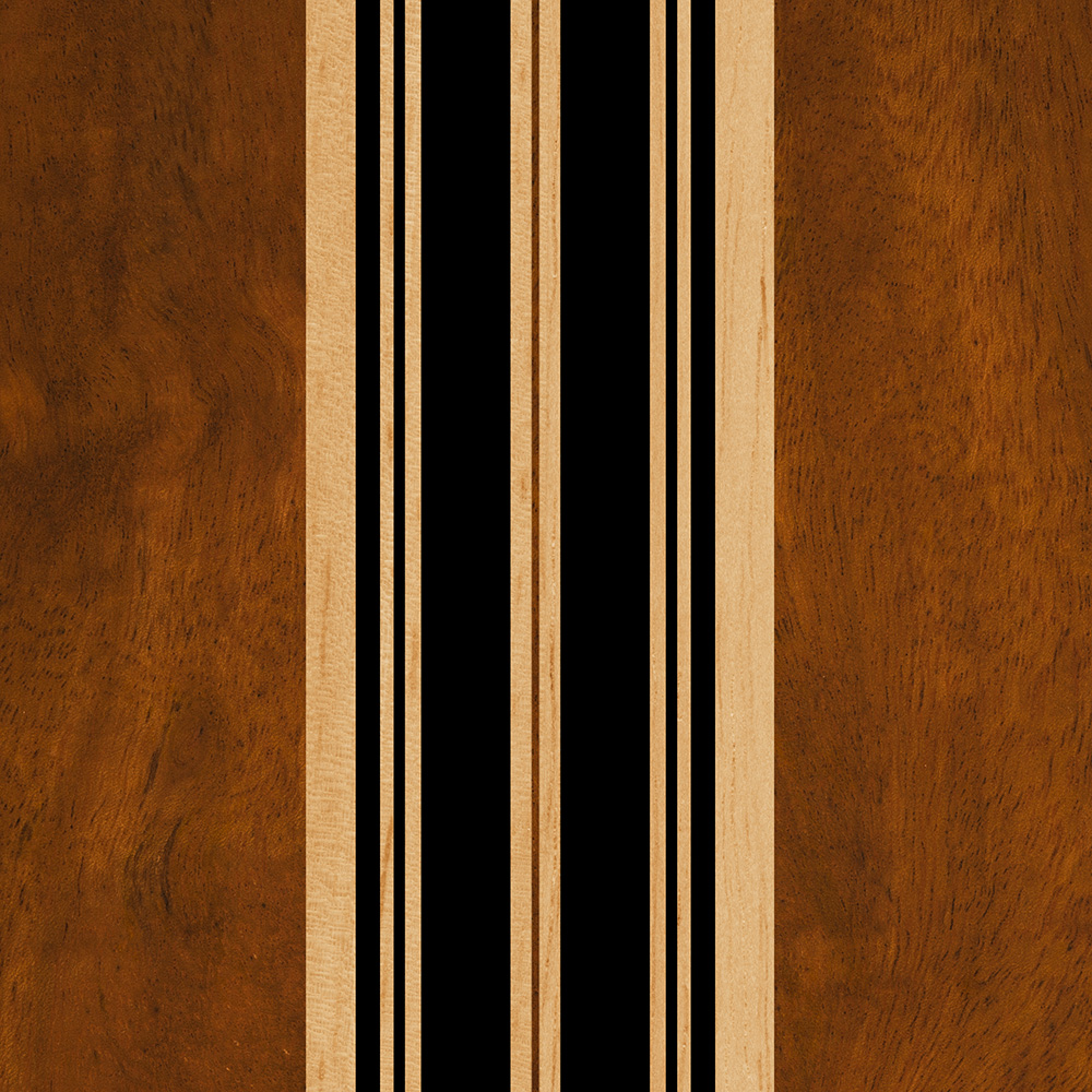 Nalu Lua Faux Koa Wood Surfboard Phone Case in Black