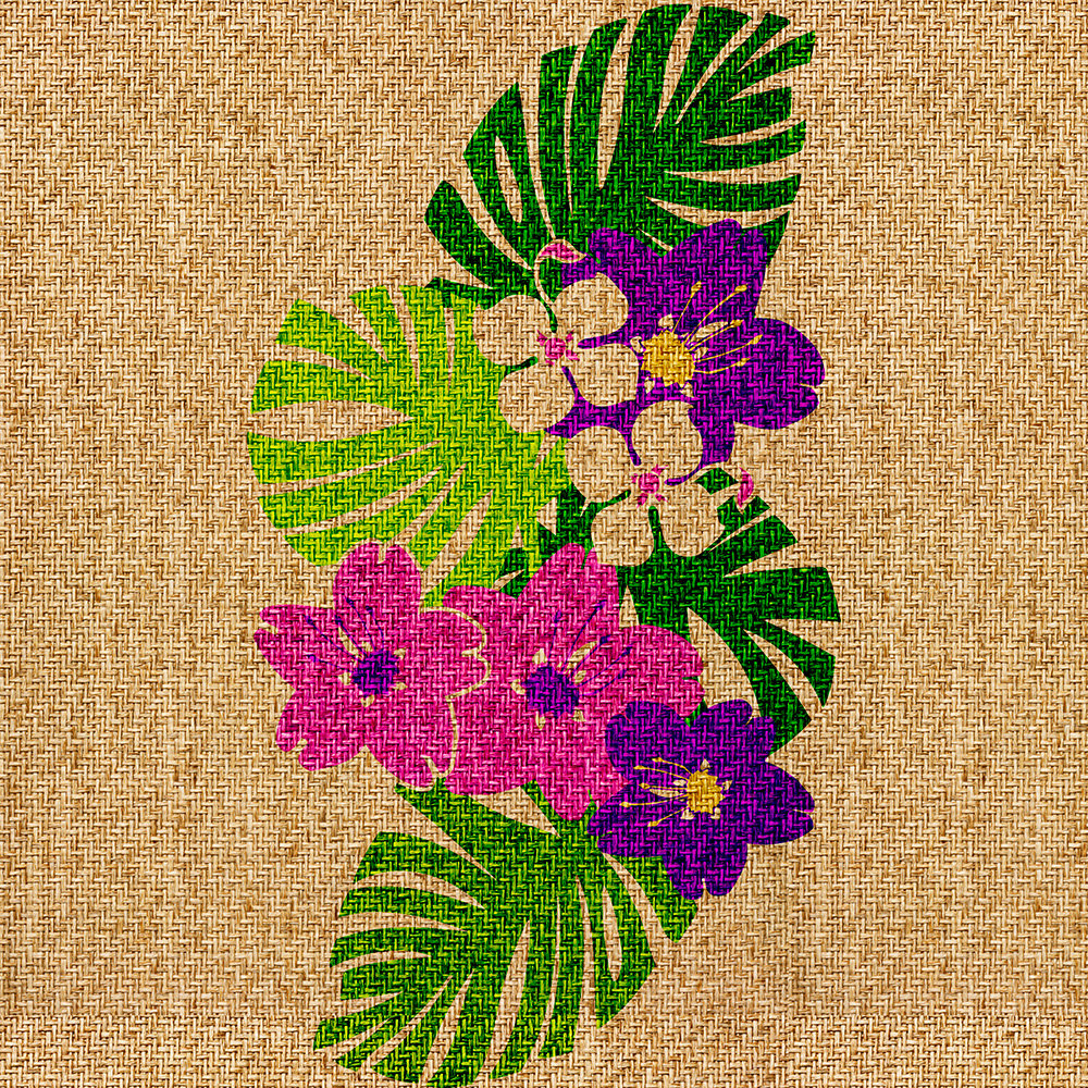 Limahuli Garden Faux Grass Cloth Phone Case in Violet