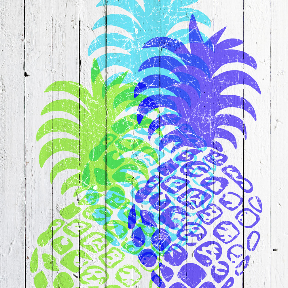 Copy of Momona Distressed Hawaiian Pineapple Phone Case