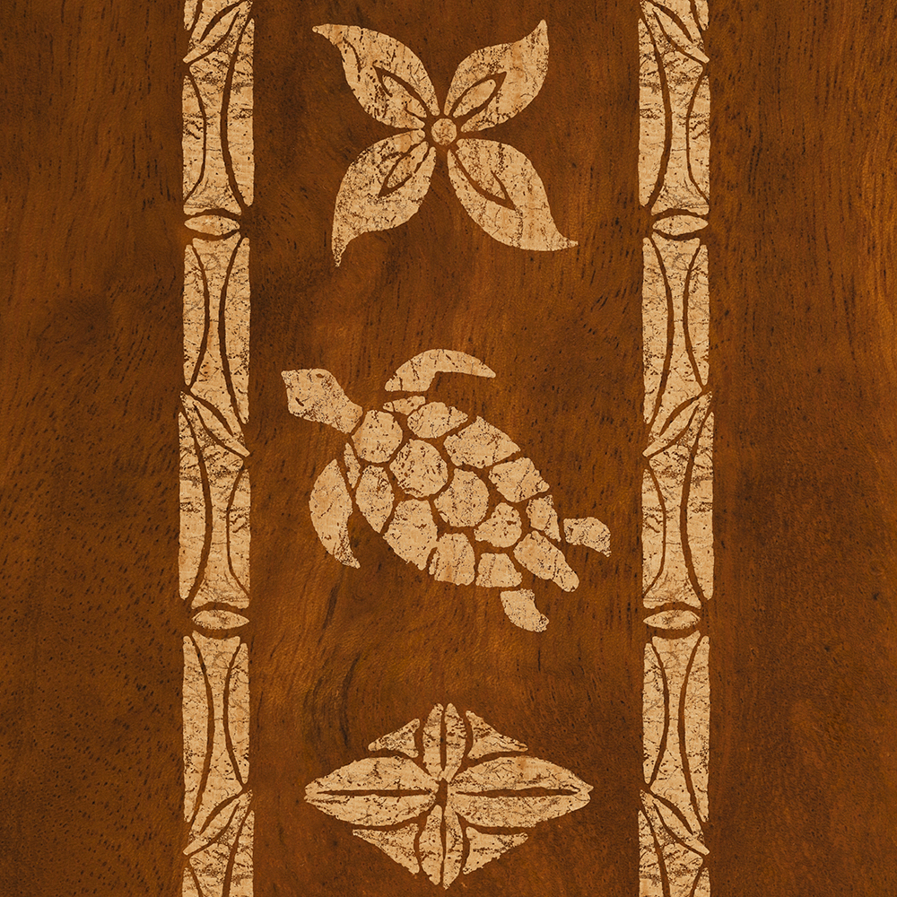 Samoan Turtle Totem Faux Koa Wood Phone Case
