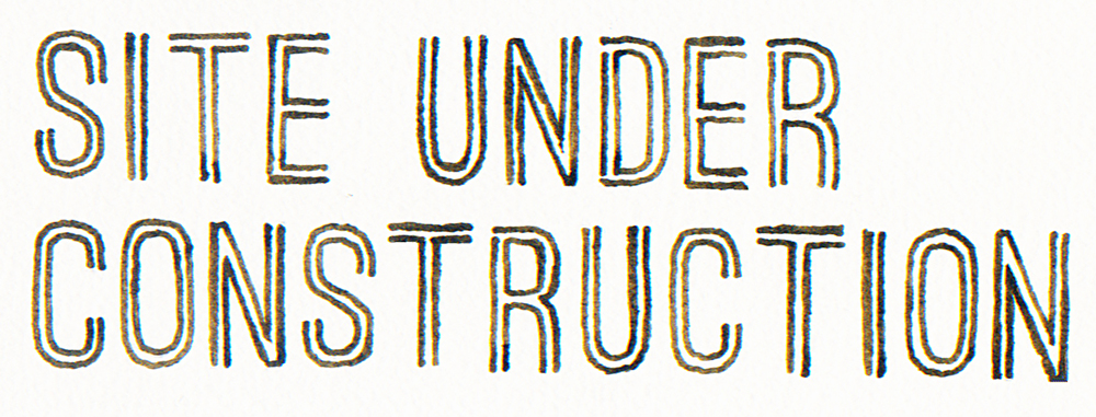 Site Under Construction lettering