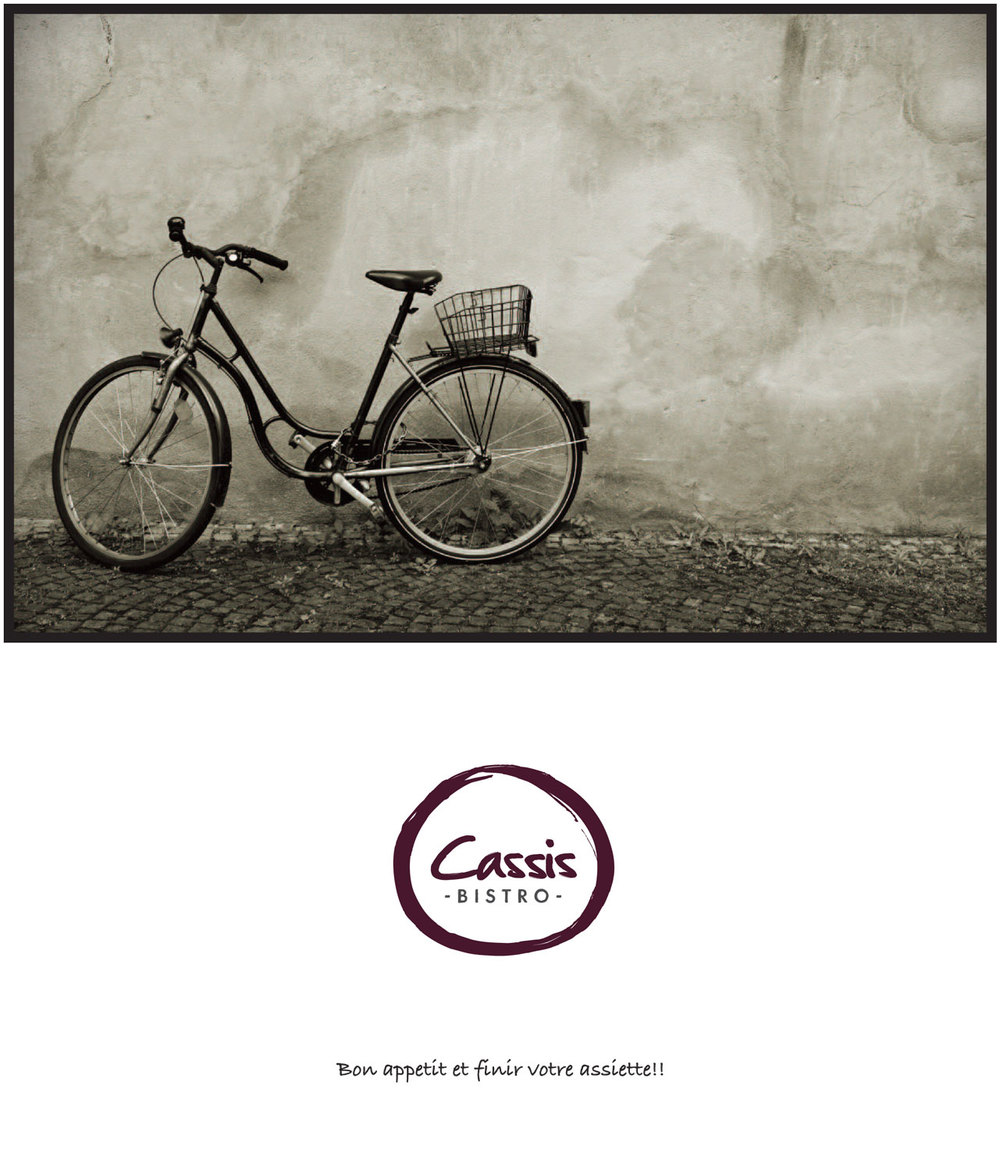 Cassis Bistro Menu cover