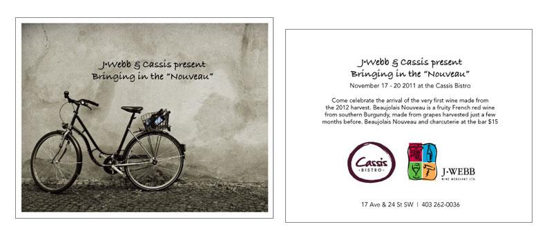Beaujolais Nouveau event postcard
