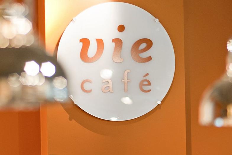 Vie café interior sign