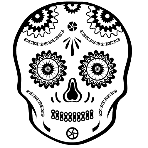 Bici Bucerias smiling sugar skull