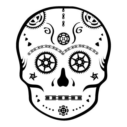 Bici Bucerias serious sugar skull