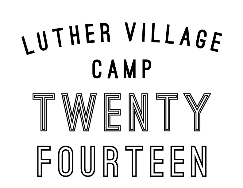 Luther Village-Twenty Fourteen T shirt design