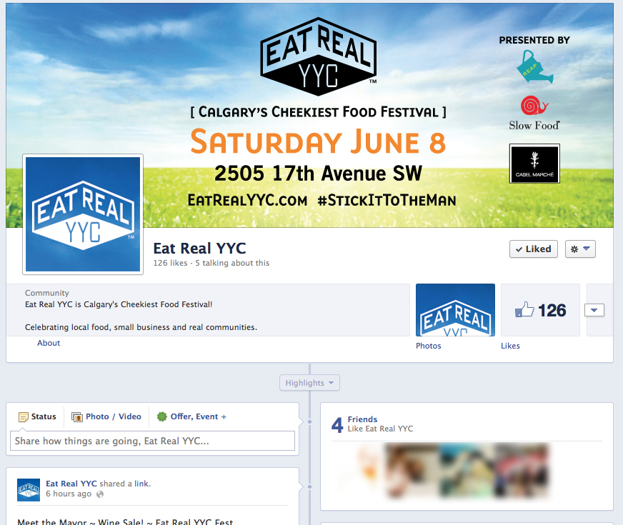 EatReal YYC facebook page-close up