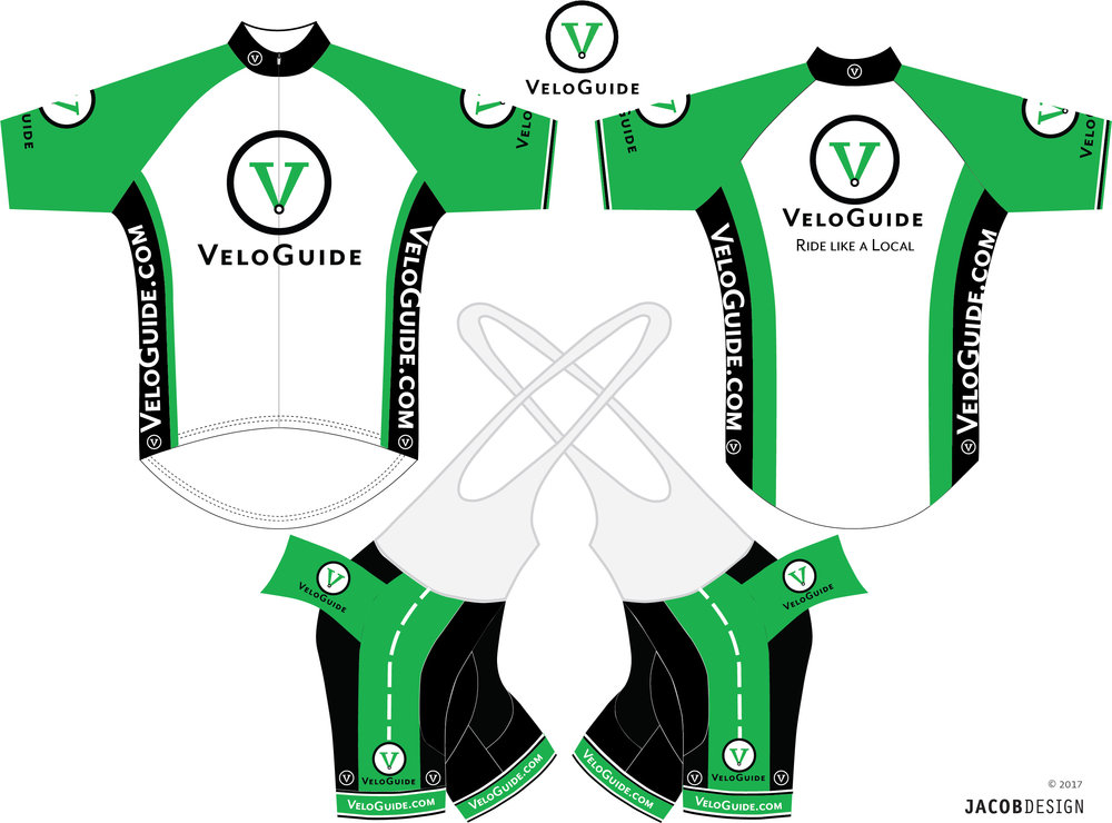 VeloGuide first issue Jersey Kit design, 2017