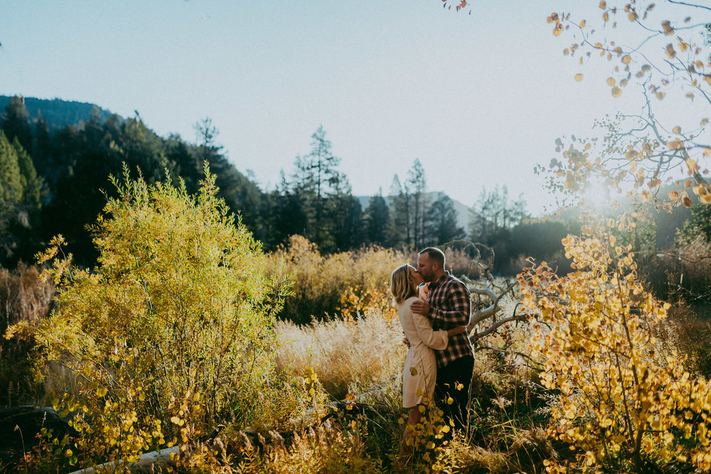 autumn engagement south lake tahoe