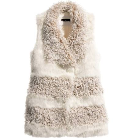 H&M Natural White Faux Fur $69.95