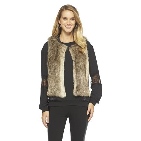 Target.com Mossimo Women's Faux Fur Vest $34.99