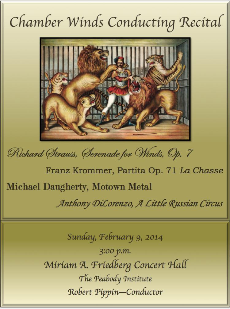Chamber Concert Poster, February 9, 2014