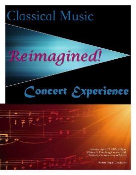 Front cover for concert program