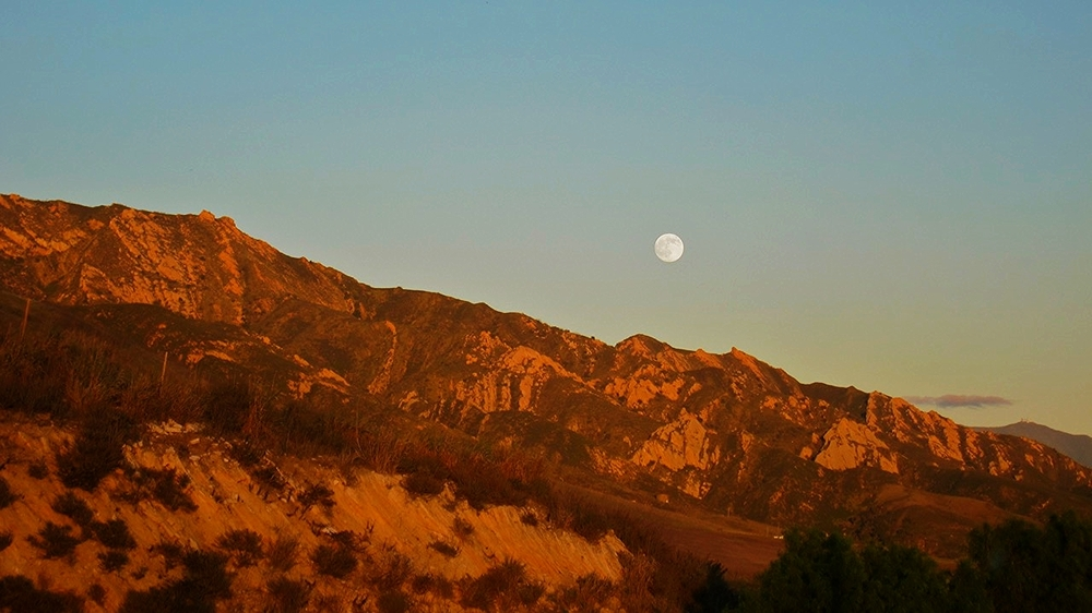 Moon Above the Mountains