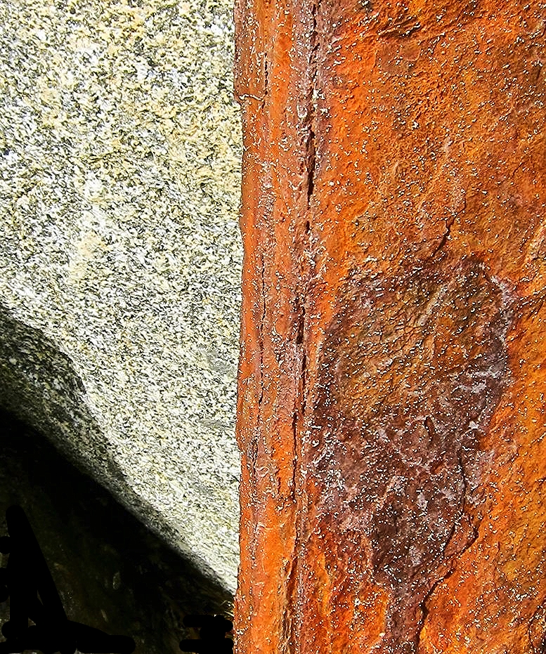 Seawall Rust and Rock