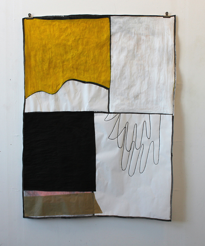 Interior, 2013 Acrylic, charcoal, and ink on paper 48 x 36 inches